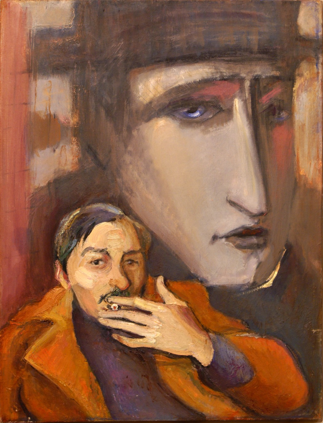 "О. Котова, ""Хрущик-Наполеон"", 2003 г., 53х73, х/м, коллекция, М. Кнобеля"