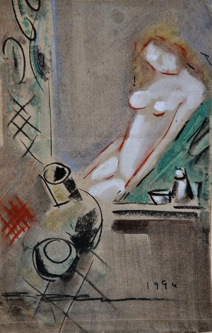 В. Хрущ, «Обнажённая», 1994 г, 46,4х29,7. б/ см.техн., Одесса, Галерея NT-Art