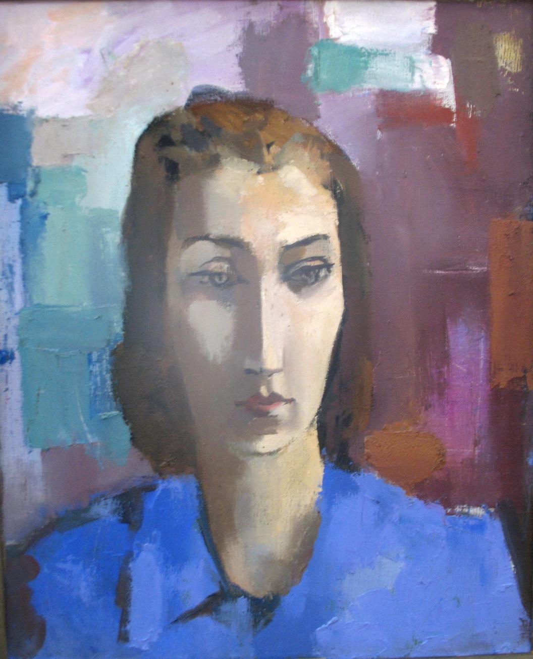 В.Хрущ, «Портрет В.В.Сальниковой», 1983 г., х/м, ОХМ