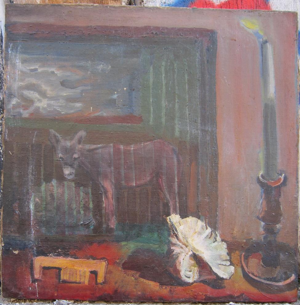 Работа Валентина Хруща - «Натюрморт с ракушкой», 1968 г., 50х50, холст, масло