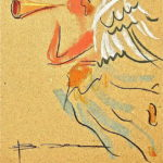 "Валентин Хрущ - Жанровая картина - ""Ангел"" - Коллекция Юрия Плисса"