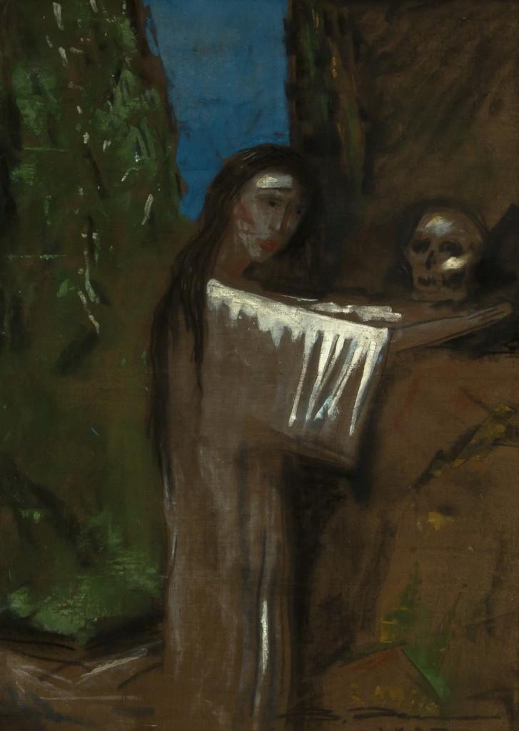 Работа Валентина Хруща - «Магдалина», 48х67, из частной коллекции Сергея Костина