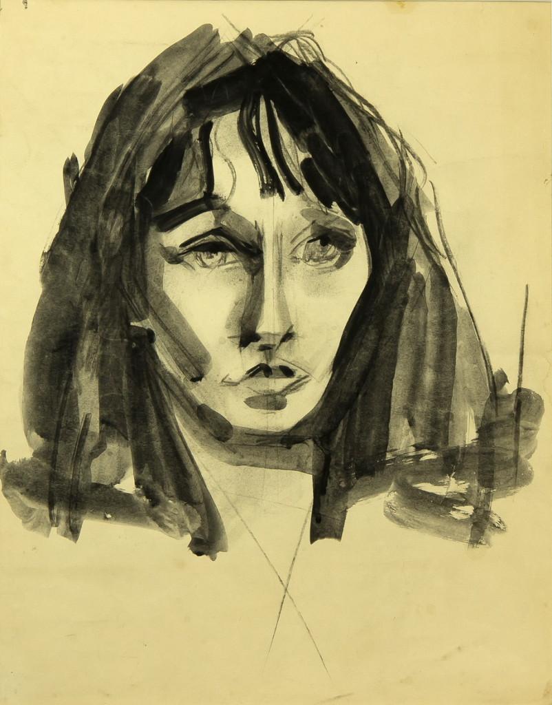 Работа Валентина Хруща - «Рита», портрет, 36х46, из частной коллекции Сергея Костина